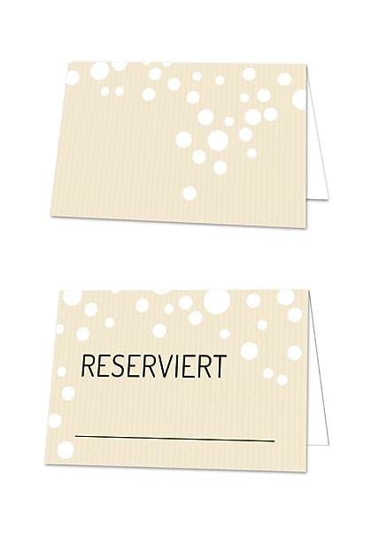 100 pieza Reservado atril en beige, blanco, negro; para la mesa ...