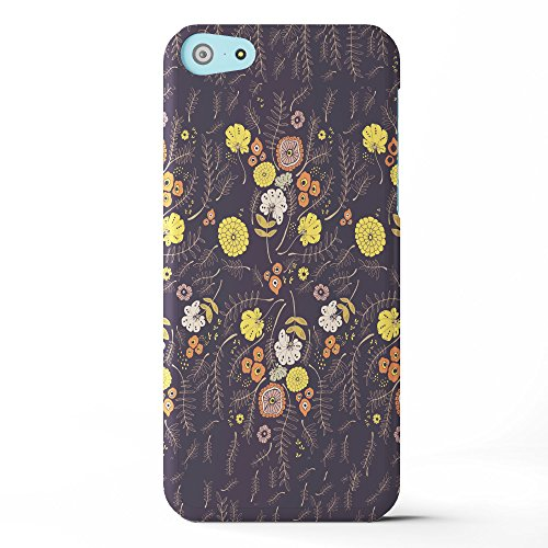 Koveru Back Cover Case for Apple iPhone 5C - Brown Yellow Pattern