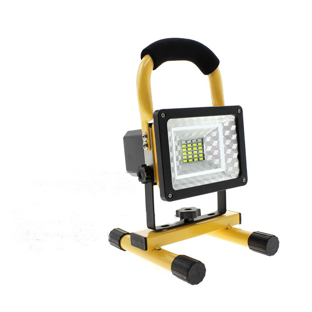 15W 24LED Work Lights with Magnetic Base, Built-in Rechargeable Lithium Batteries Outdoor Camping Lights, 2 USB Ports to Charge Mobile Devices and SOS Mode (Yellow)