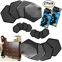 Furniture Pads and Sliders For Moving 16-Pc Furniture Feet Pads Hardwood Floor Protectors Furniture Pads For Carpet 2 Pack Non Slip Floor Protectors For Furniture Legs