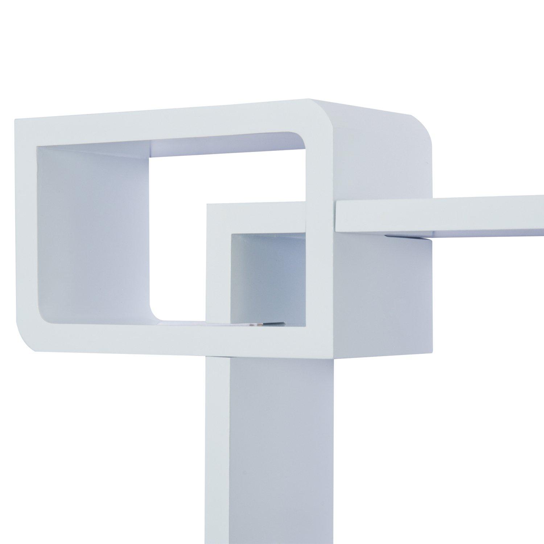HOMCOM Wandregal W/ürfelregal Cube Regal mit 3 F/ächern MDF Rosa
