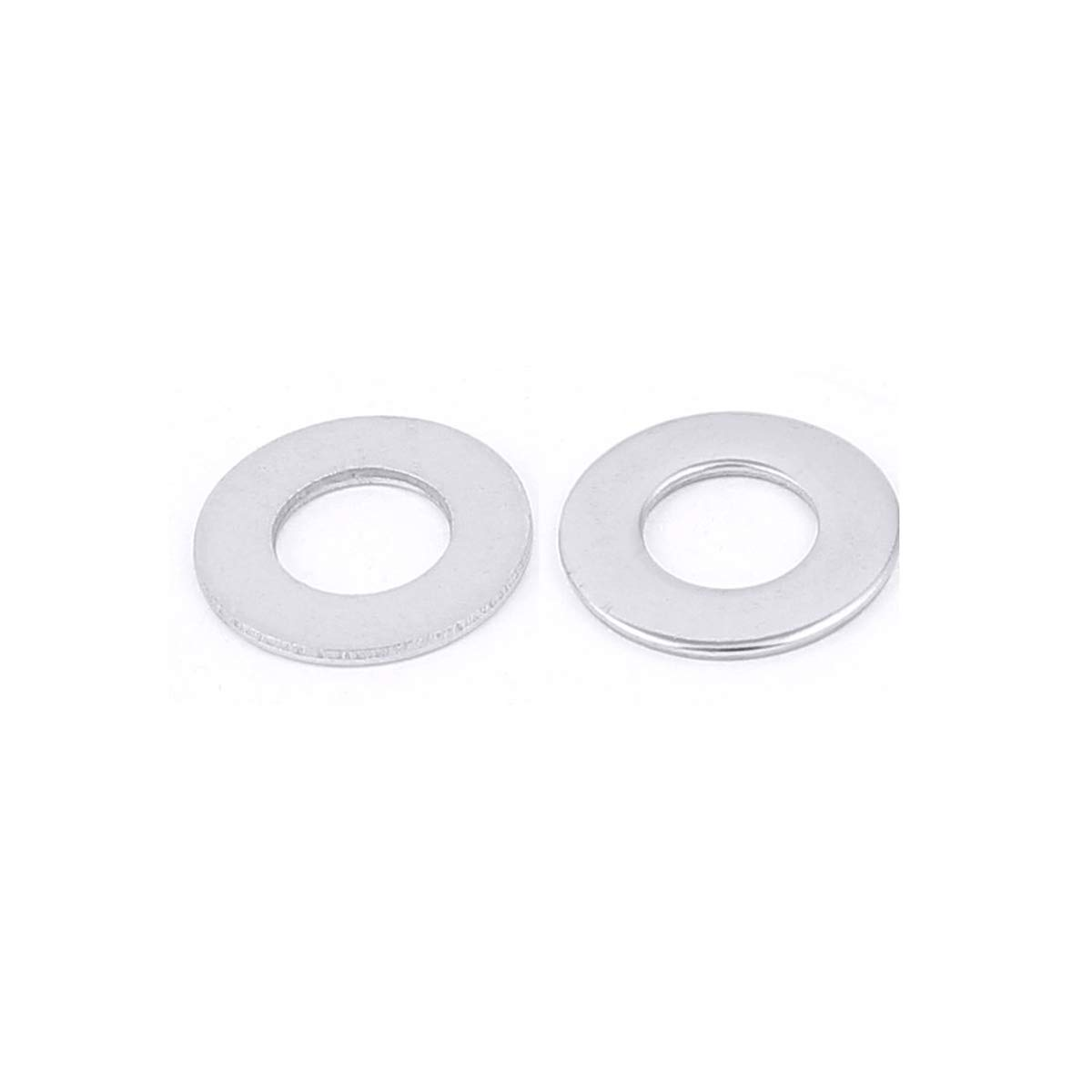 100pcs Stainless Steel M10 Stainless Flat Finish Washer 3//4 OD 18-8 M10 ZLYY 304