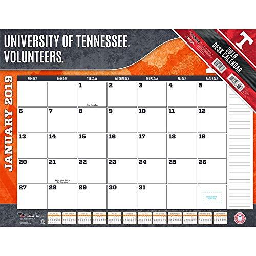 Turner 1 Sport Tennessee Volunteers 2019 22X17 Desk Calendar Office Desk Pad Calendar ()