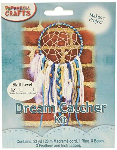 Pepperell MAC159 Macrame Dream Catcher Kit ()