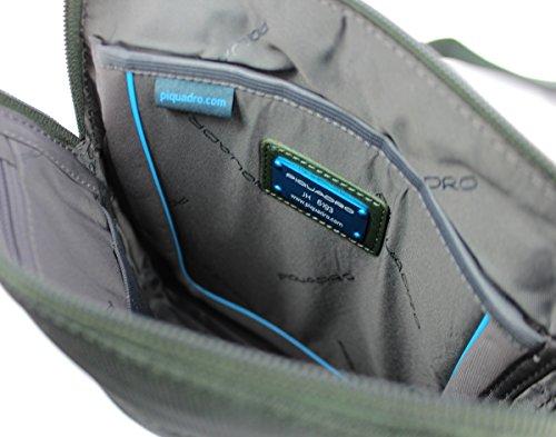 Bolso UNICA Verde Hombre Chev Piquadro con CA1358P16 Azul bandolera UqUgA7w