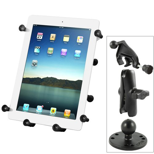 Ram Mounts RAM-B-121-UN9U Ram Mount Universal X-Grip Iii 10'' Tablet Holder W/ Yoke Mnt by RAM MOUNTS