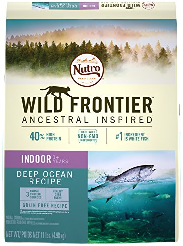 NUTRO WILD FRONTIER Indoor Adult Whitefish Flavor Grain Free Dry Cat Food 11 Pounds Rich in Nutrients and Full of Flavor; Supports Healthy Joints & Healthy Skin and Coat by Nutro