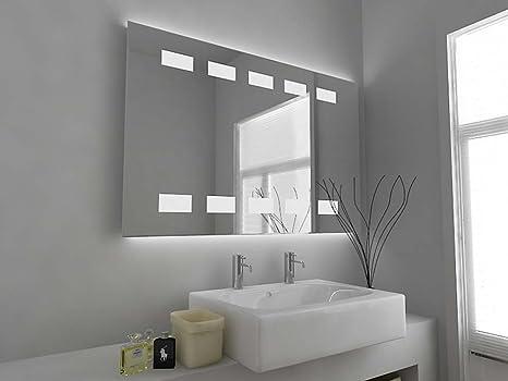 Specchio da bagno moderno con illuminazione retrostante sensore e