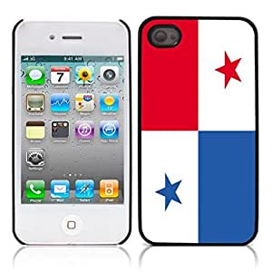 flag of Panama pictures Hard Plastic and Aluminum Back Case for Apple iphone 4 4S