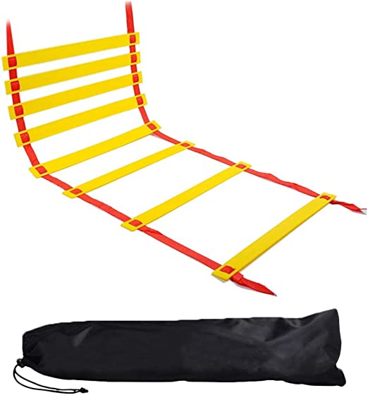KEBY - Escalera de Movimiento para Baloncesto, fútbol, Entrenamiento de Velocidad, Escalera de Entrenamiento, Juego de fútbol: Amazon.es: Hogar