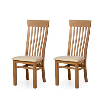 Alkove - Hayes - Set da 2 sedie classiche con seduta imbottita, in ...