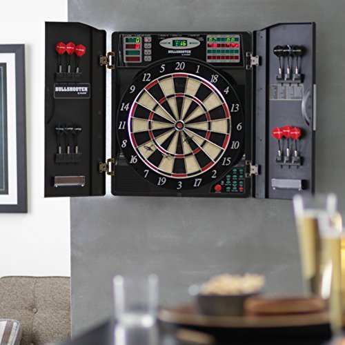 Electronic Dart Board Set With Cabinet- Home Bar Den Play...