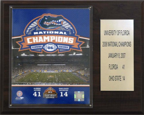 NCAA Football Florida 2006 Football Champions Plaque