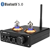 [2020 Upgraded] AIYIMA Tube T2 Audio 6J1 Tube Preamplifier Bluetooth 5.0 HiFi Treble & Bass Adjustment Audio Preamplifier DC12V Vacuum Preamp for Home Amplifier Theater System (Black)