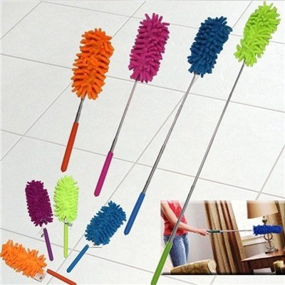 outlet Digital baby Adjustable Chenille Car Feather Duster Dust Duster Dust Shan Dusting Brush Household Handle Magic Dusters