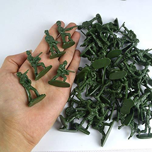 NszzJixo9 100 pcs Military Playset Plastic Toy Soldiers Men 3.8cm Figures Battle Equipment Pieces Army Action Figures Set