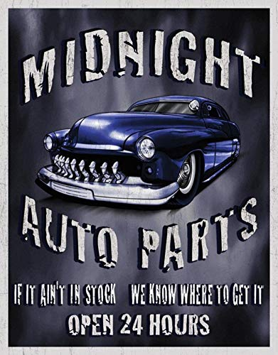 Midnight Auto Parts Metal Tin Sign TIN Sign 7.8X11.8 INCH