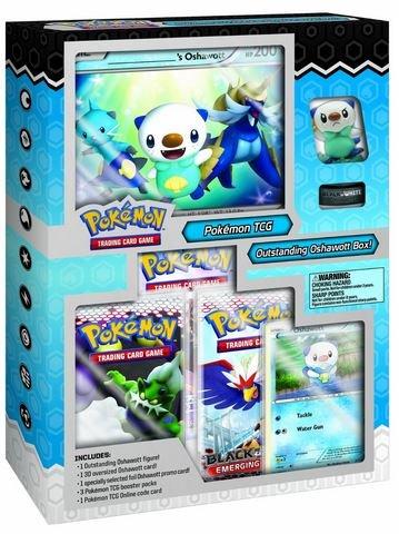 Pokemon TCG: Black and White Outstanding Oshawott Starter Figure Box by Board Games
