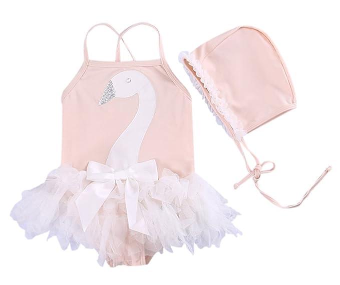 Amazon.com: stylesilove Little Swan Ruffled Bailarina niña ...