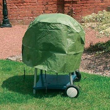 Garden Mile Grande Resistente Impermeable Redondo Verde Protector Barbacoa Cubierta para Lluvia, Jardín Estufa Leña Pozo de Fuego Cubierta, UV Protegida ...