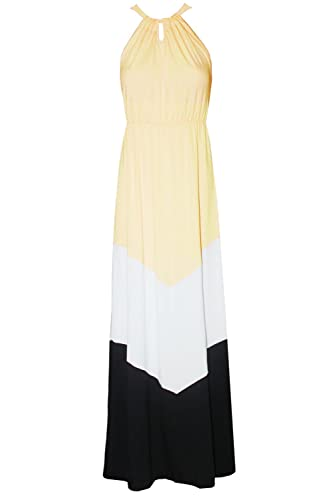 Kranda Ladies Summer Bohemian Halter Sleeveless Chevron Maxi Dress