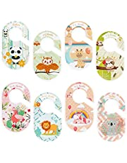 8 Pcs Baby Closet Dividers by Months Cute Double Side Printing Closet Hanger Separator with Cartoon Animals Pattern Closet Organizer