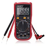 Multimeter, Exwell Digital LCD Multimeter with Two sets Multimeter test leads, Black Protective case included