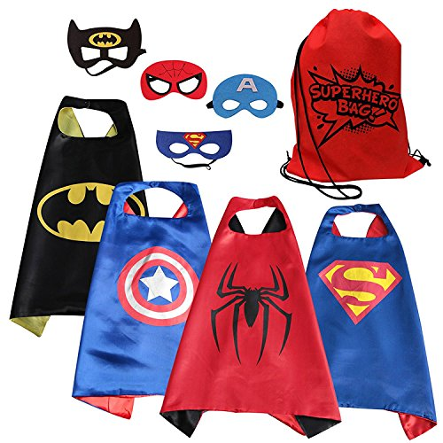 [Eli Superhero Cape & Mask costume set for toddlers] (Four Group Costumes)