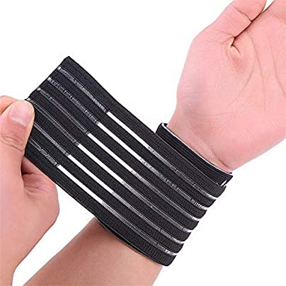 WANGYAN1886-Sports wristband Wrist Brace Nylon And Spandex Material Black Adjustable Breathable Elastic Wrist Support Hand Band wrist straps Estimated Price £21.77 -
