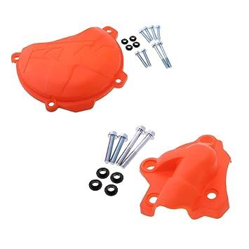 Sharplace Protección para Bomba de Agua Tapa de Embrague para Moto 250 350 SXF EXCF XCF: Amazon.es: Coche y moto