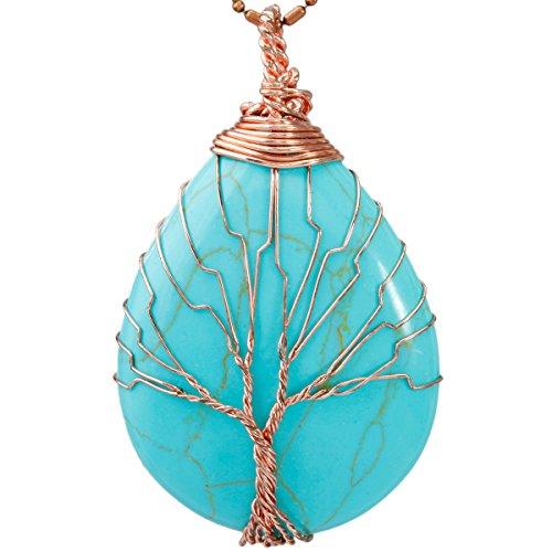 SUNYIK Pendant Necklace Handmade Wrapped product image