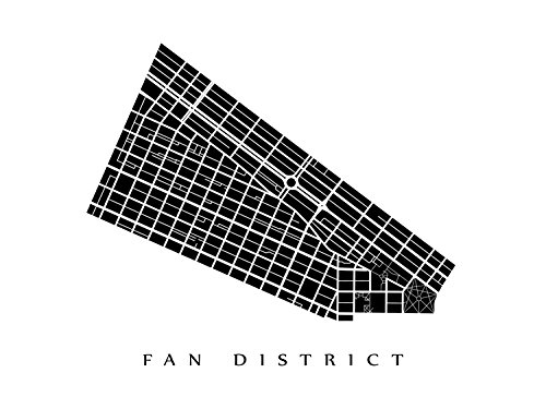Amazon Com Fan District Neighborhood Map Richmond Virginia