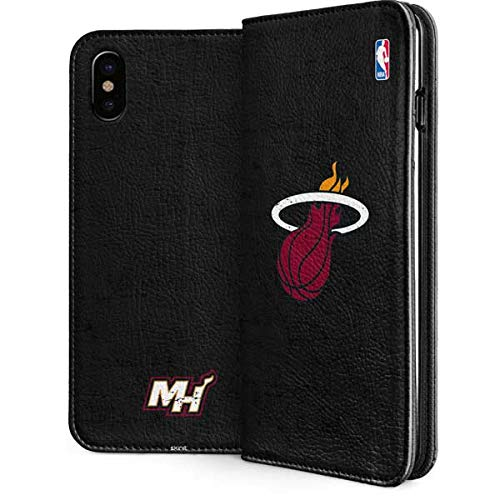 (Miami Heat iPhone Xs Max Case - NBA   Skinit Folio Case - Faux-Leather Wallet iPhone Xs Max Cover)
