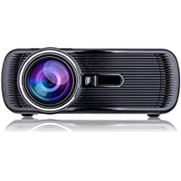 NUOLUX 1000lumens 1080P Mini Portable HD LED Projector Home Theatre Cinema(Black)
