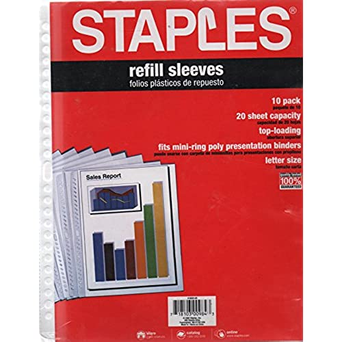 30 off staples refill sleevesfor 24 hole mini ring binders 0 pack