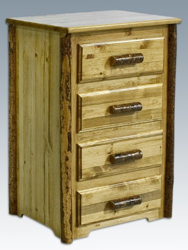 (Montana Woodworks MWGC4D Glacier Country Collection 4-Drawer Chest of)