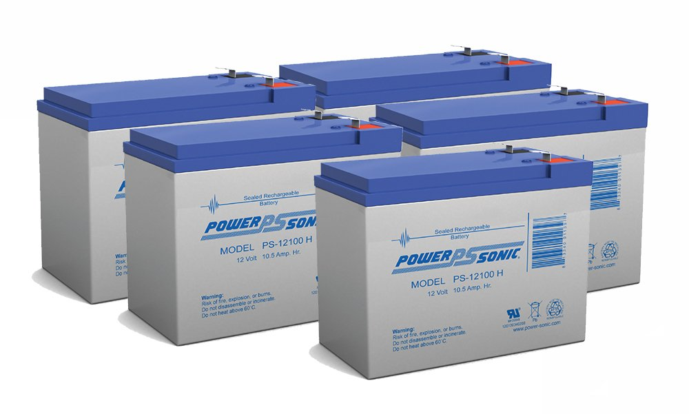 12V 10Ah Battery for Currie eZip E 1000, E1000 Scooter - 5 Pack