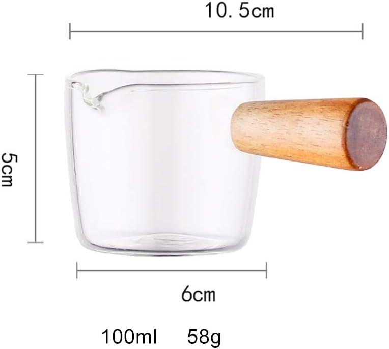 Naiyafly Multi-functional Taste Dish Coffee Mini Milk Pan Glass Sauce Vinegar Plate Gravy Boats With Handle Household Supplies