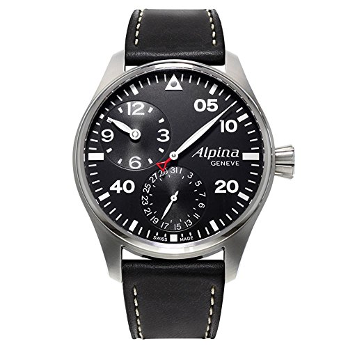 Alpina Startimer Pilot Manufacture Regulator Watch, AL-950, Black, Limited Ed.