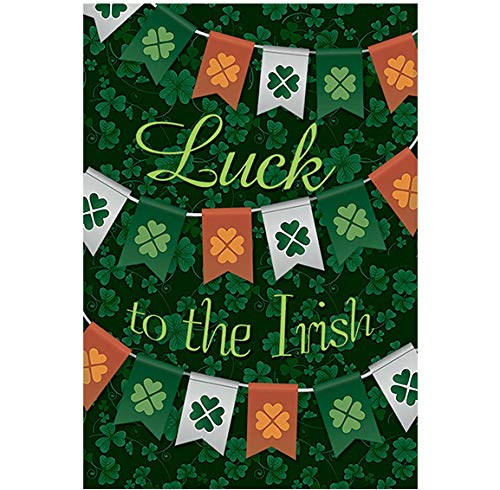 - Morigins Luck to The Irish Decorative St. Patrick's Day House Flag Double Sided Flag 28x40 inches