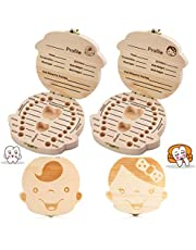 Baby Tooth Keepsake Box, BESTZY Teeth Milk Teeth Saver Boxes, Wooden Kids Tooth Box,Baby Save Boxes for Children,Cute Personality Baby Teeth Box