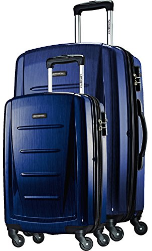 (Samsonite Winfield 2 Fashion 2 Piece Set Spinner 20 and 28 With Travel Pillow (Navy, One Size))
