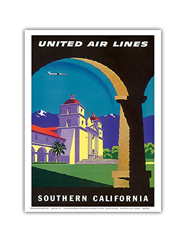 southern-california-spanish-mission-united-air-lines-vintage-airline-travel-poster-by-joseph-binder-