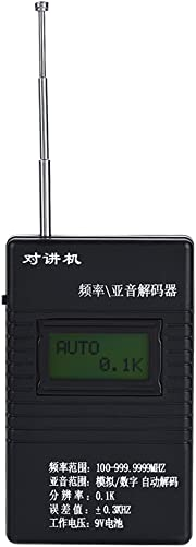 Bewinner Portable Walkie Talkie Frequency Subaudio Decoder Frequency Meter Counter Handheld 2-Way Radio Frequency Counter