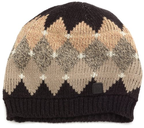 Isotoner Men's Acrylic Argyle Pull-On Hat, Black, One Size (Argyle Wool Hat)