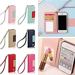 TL DSD? Colorful Little Bird PU Leather Full Body Case with Strap for iPhone 6(Rosa)