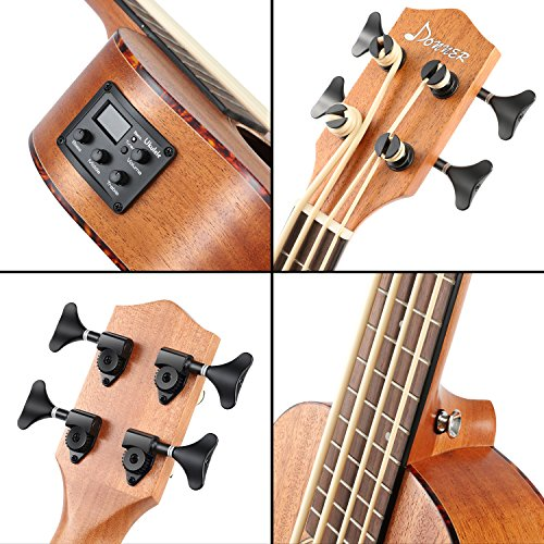 Donner DUB-1 30 inch Electric Bass Ukulele Mahogany Body with Case by Donner (Image #4)