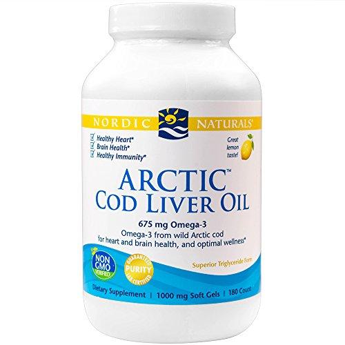 Nordic Naturals Arctic Cod Liver Oil -- 1000 mg - 180 Softgels (Rosita Cod Liver Oil compare prices)