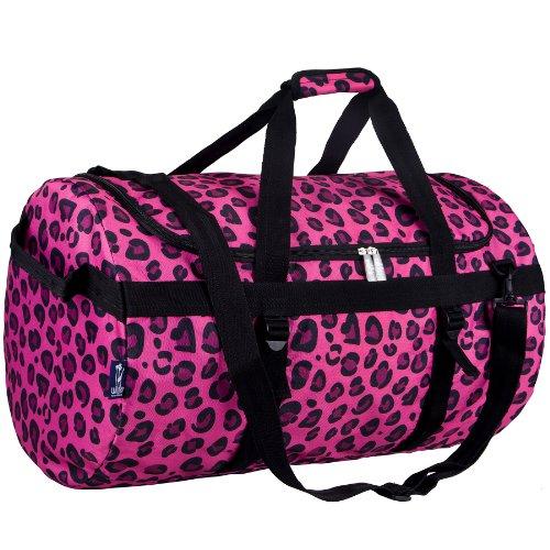 wildkin-pink-leopard-traveler-duffel