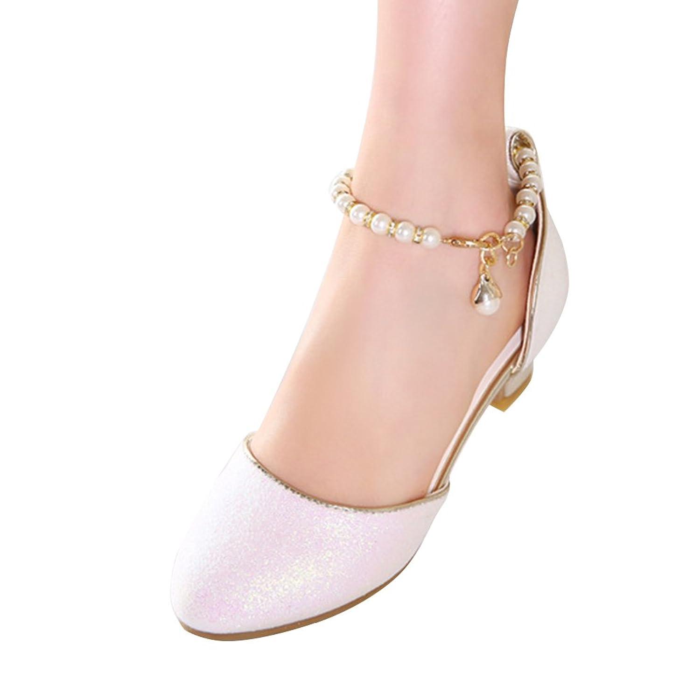 Amur Leopard Kids Girls Mary Jane Shoes Glitter Powders Dance Wedding Princess Shoes(Little Kid)